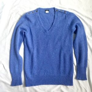 J. Crew Blue/Purple Wool and Mohair Sweater
